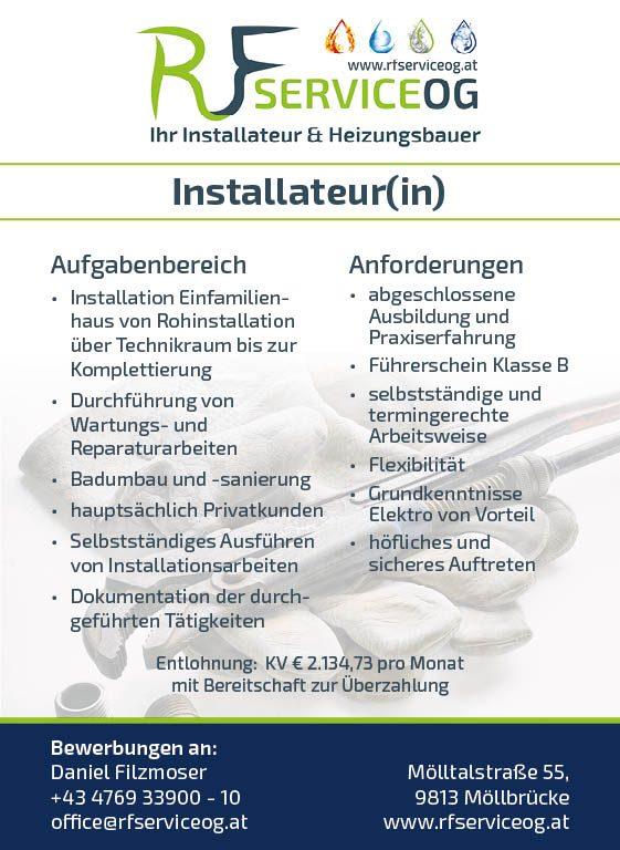 © RF Service OG   Job - Installateur(in)